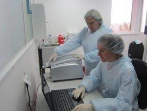 Room for PCR and analyses of results