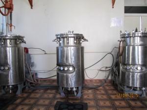 Picture 1. Reactor Room (bioreactors)