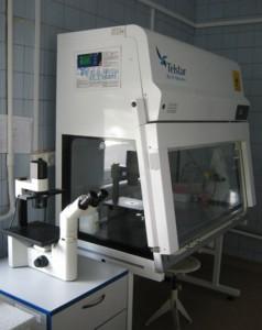 Шафа біобезпеки BSL-2 та інвертований мікроскоп