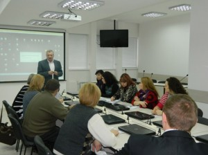 Director of the Institute Doctor of vet/ Science Nychyk Serhiy carry a lecture about position of veterinary medicine all over the world and in Ukraine
